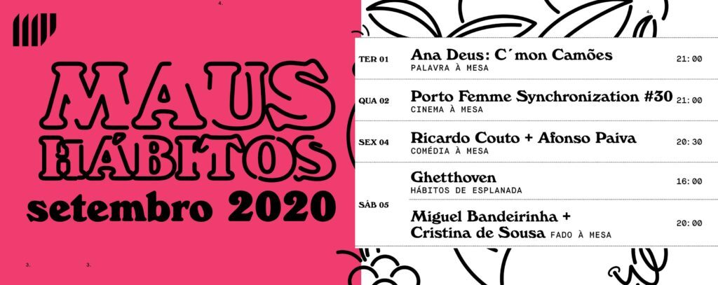 AGENDA LGBT PORTO MAUS HÁBITOS SETEMBRO 2020