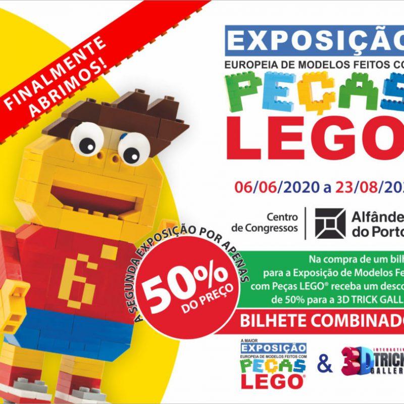 exposição peças lego porto